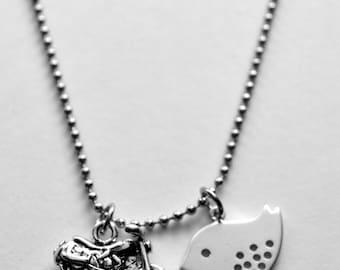 Biker chick - Biker necklace - Motorcycle necklace