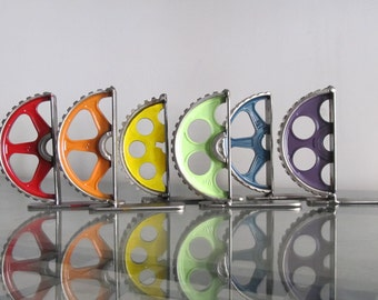 ONE Gear-half Bookend Painted the Color of Your Choice *PERFECT GIFT*