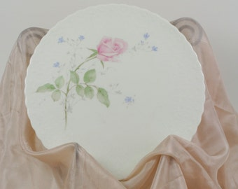 Vintage Mikasa Bone China Ceramic April Rose Cake Plate Circa 1980s.