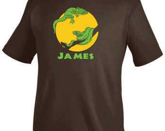 Personalized lizard and snake shirt, reptile birthday party shirt for boys