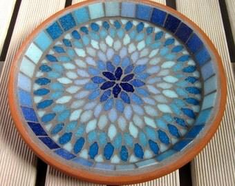 Gypsy Sky Mosaic Garden Yard Water Bird Bath Decor
