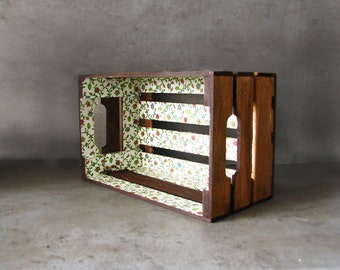 Popular items for toy storage on etsy for Decorating with milk crates