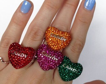 Fuchsia LOVE CANDY Candy Heart Ring(c) by Sara Gallo