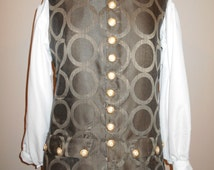 Men's Colonial Pirate Waistcoat Vest Brown size Large - READY TO SHIP