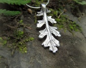 Woodland Leaf Necklace - Real Leaf Necklace  - Silvan Leaf - Botanical Jewelery - Artisan Handcrafted with Recycled Fine Silver