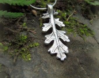 Woodland Leaf Necklace - Real Leaf Necklace - Botanical Jewelery - Artisan Handcrafted with Recycled Silver - Silvan Leaf - Elven Leaf