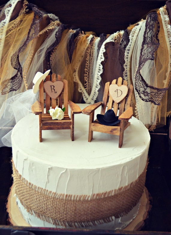 western country rustic wedding cake