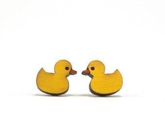 Rubber Ducky Earrings - Handmade - Laser Cut - Laser Cut Jewelry