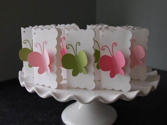 Butterfly thank you cards 15 pcs advice cards butterfly for Baby shower decoration butterfly