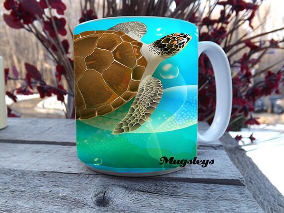 Large Coffee Mug Sea Turtle Coffee Mug 20 oz Mug Sea - photo#1