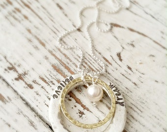 Graduation Believe, Dream, Achieve Necklace . Graduation Necklace . Personalized Jewelry . For The Graduate . Dream Necklace . Believe