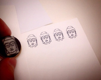 Buddha Head Rubber Stamp SM Y008