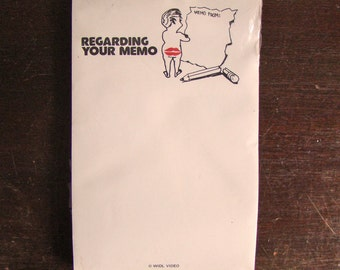 vintage sassy notepad: Regarding Your Memo / New Year get organized
