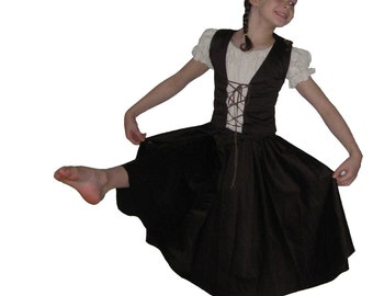 Milkmaid dance costume pattern The Little Milkmaid costume pdf sewing pattern dance skirt mop hat girls sizes 3-12