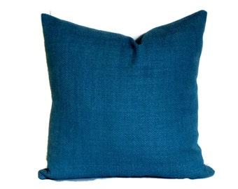 P Kaufmann Basket Weave Decorative Pillow Cover 18x18 20x20 22x22 or Lumbar Pillow Accent Pillow Throw Pillow Blue