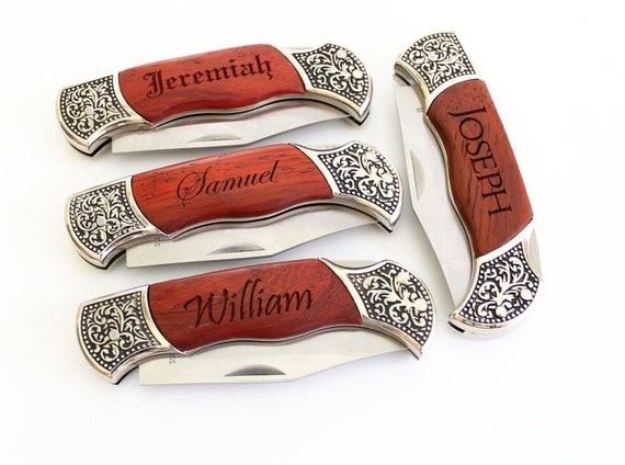 Wedding Party Gifts Knives : Gifts Custom Pocket Knife Groomsman Gifts Wedding Party Favors ...