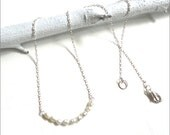 Tiny Pearl Necklace - Dainty, Delicate, Classic, Minimalist Bridal or Everyday Jewelry