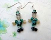 Leprechaun Earrings, Swarovski Earrings, Irish Earrings, St. Patrick's Day Earrings, Green Earrings, St. Patrick's Day Jewelry, Leprechaun,