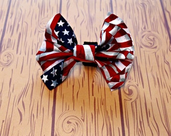 Flag Bow Tie Pet Collar Accessory
