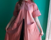 Reserved for Cynthia Do Not Buy Classic 1950s Pink and Red Candy Cane Stripe Lucille Ball Swing Coat. Sz-M-L