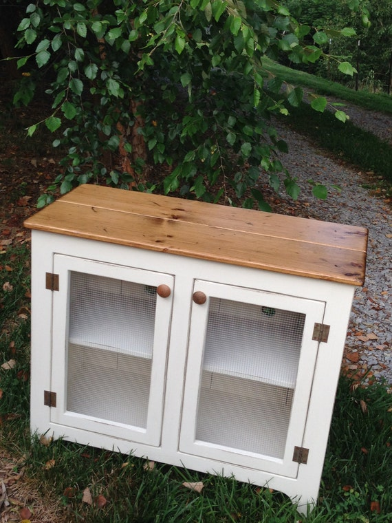 Painted TV Stand Media Console Small Media Cabinet Vintage Style