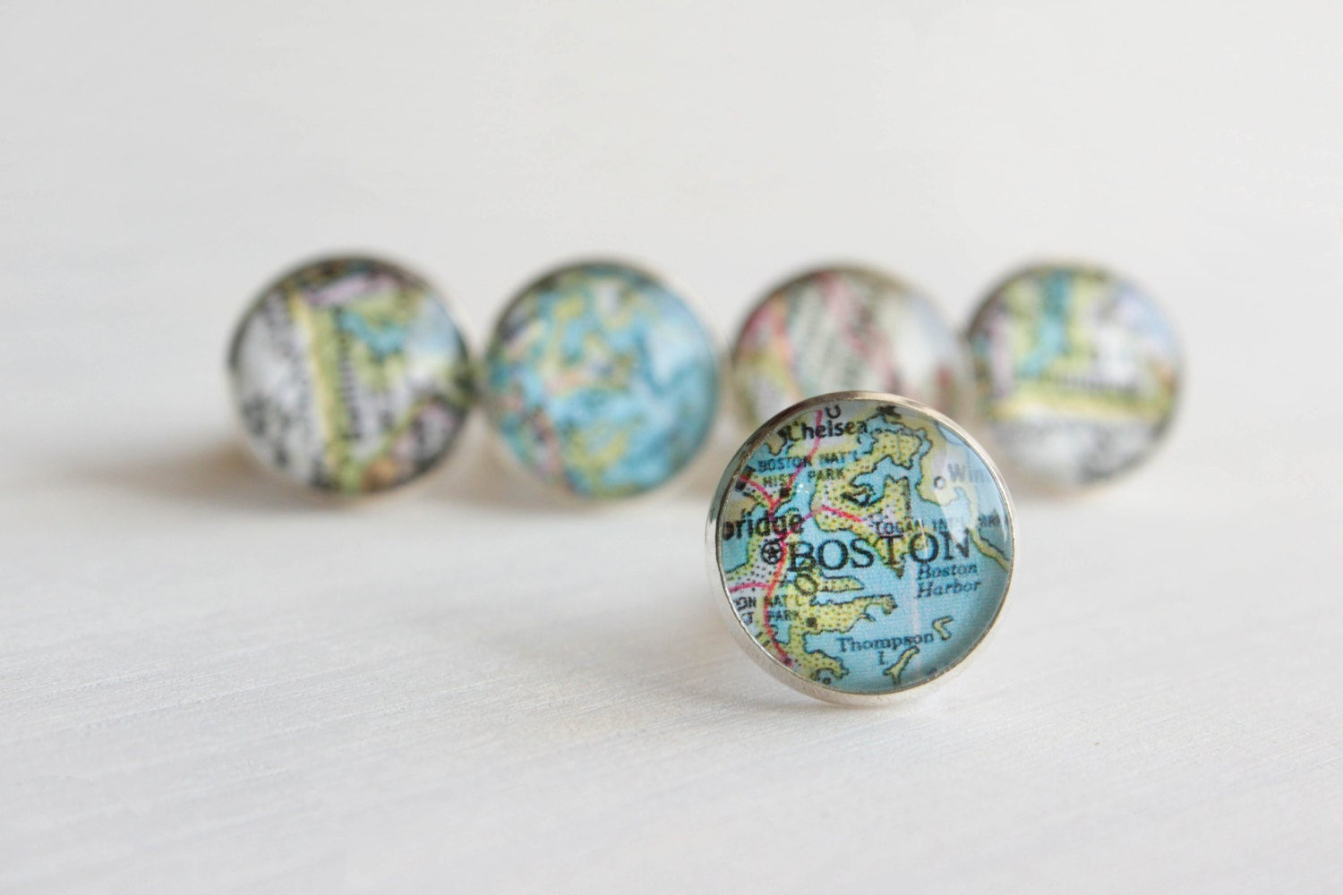 Vintage Map Cuff Links Choose Your Own City Maps