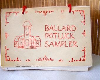"""Vintage 50's """"BALLARD POTLUCK SMPLER"""" Cookbook"""