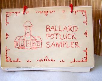"Vintage 50's ""BALLARD POTLUCK SAMPLER"" Cookbook"