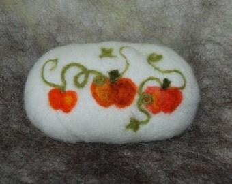 Felted Soap Handmade Needle Felted Pumpkins Autumn Decoration
