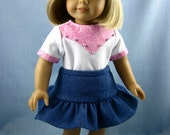 American Girl Doll Clothes - Cowgirl Outfit In Pink