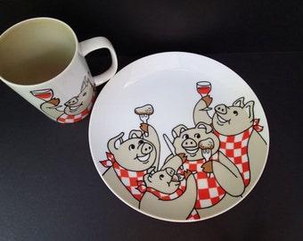 Fitz And Floyd Variation Pig Design