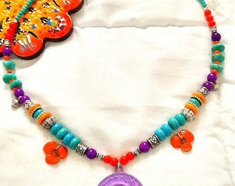 SALE----- GYPSY'S SPRING Necklace- Bohemian inspired Necklace - Spring 2014 - Gypsy Jewelry