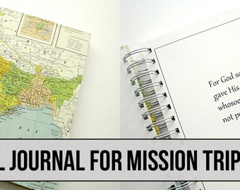 Mission Trip - Customized Travel Journal - India, Africa, Asia