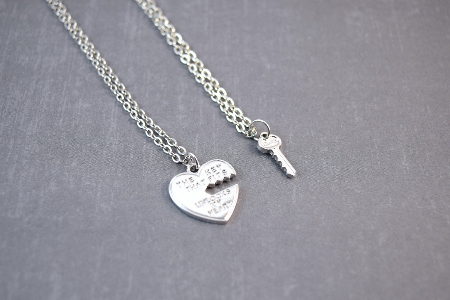 heart necklace for couples - photo #26
