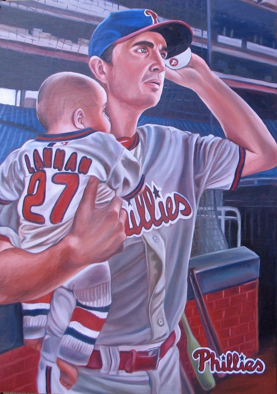 CUSTOM PORTRAIT - Oil Painting - Baseball Portrait - Custom Painting - Great Gift - 12x20