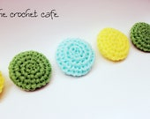 Custom Listing for Dawn: Set of Six Crochet Nylon Netting Eco-Friendly Reusable Kitchen Dish Scrubbies