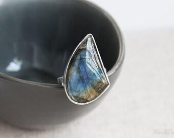 Labradorite Cocktail Ring, Statement Gemstone Ring