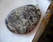 Gemstone pendant, picaso jasper, jasper, huge, large, big, brown, beige, earthy, statament, necklace findings, 72 mm, slab