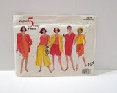 Vogue Easy Sewing Pattern FF Vogue 2679 uncut Loose Jacket Pullover Dress Crop Top Split Skirt Culottes Shorts 90s Sz 8 10 12 Free usa ship