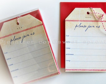 Kraft Tag Blank Invitation 5x7 with Envelope 10pack