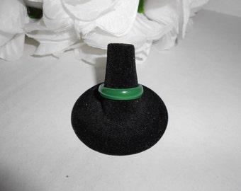 Green Thin Glass Ring