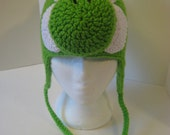 Children's Yoshi Hat with Ear Flaps