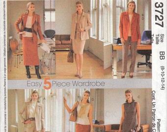 Career Wardrobe Pattern McCalls 3727 Sizes 8 - 14 Uncut
