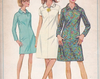 1960s A-line Mini Dress Pattern Simplicity 7289 Size 14