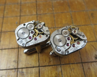 Universal Watch Movement Cufflinks. Great for Fathers Day, Anniversary, Wedding or Just Because.  #706