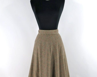 70s A Line Skirt in Houndstooth Wool - sm