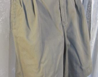 Vintage 90s women's Liz Claiborne stone cotton denim shorts size 8
