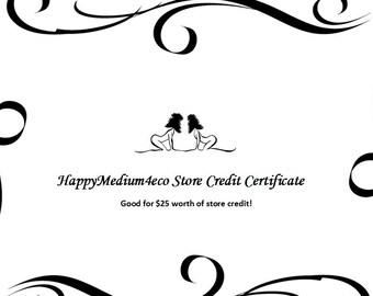 HappyMedium4eco Store Credit for 25