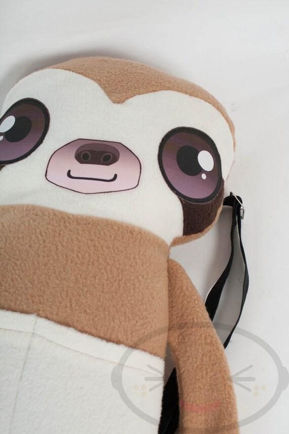Sloth Backpack,  Bag, Plush Animal, Handmade