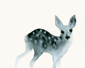 Deer Art Fine Art Print from Original Watercolor